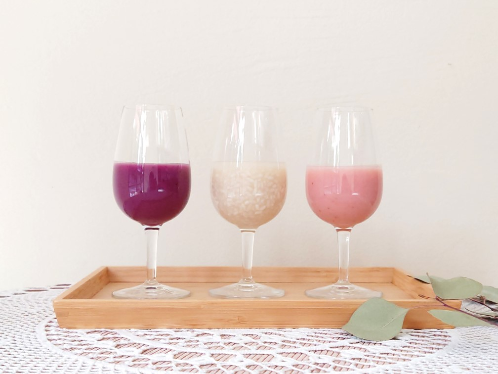 ワイングラス生甘酒3種